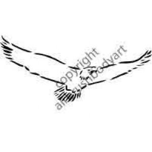0261 eagle reusable stencil